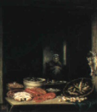 the fishmonger's stall by elias childe