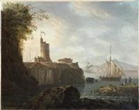 scène portuaire par temps calme by carlo bonavia
