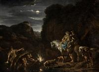 descanso nocturno de campesinos by nicolaes berchem