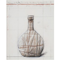 wrapped bottle, project for kirchberg spatlese by christo and jeanne-claude