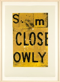 close owly (3 works) by rosalie gascoigne