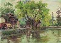 红庙前河流 by liu guoshu