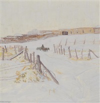 winter in taos by ernest martin hennings