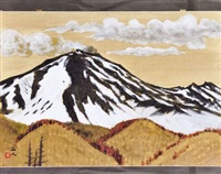 mount asama remaining snow by kyujin yamamoto