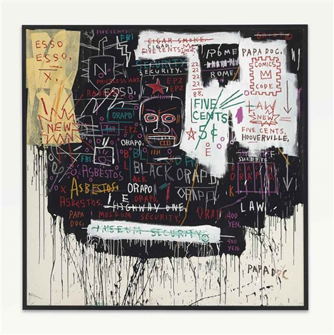 museum security broadway meltdown by jean michel basquiat