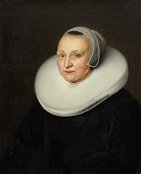 portrait de femme âgée de 58 ans by ferdinand bol