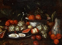 stilleben med ostron och frukter by jan pauwel gillemans the younger