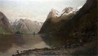 am norwegischen fjord by anders monsen askevold