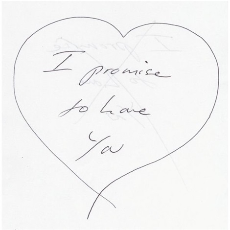 i promise to love you by tracey emin