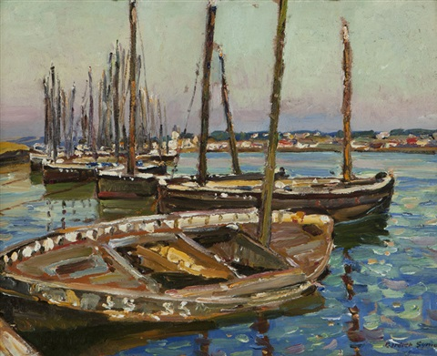 harbor scene by george gardner symons