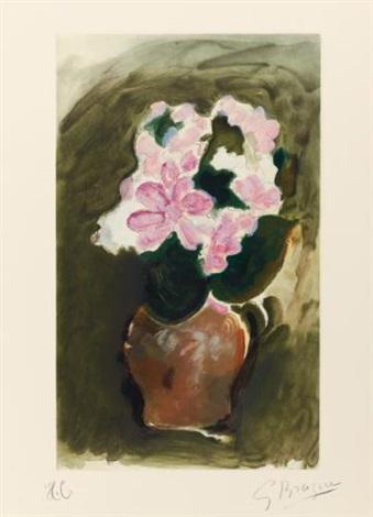 bouquet dans un vase (+ 4 others; 5 works) by georges braque