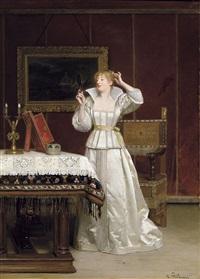 femme au miroir by florent willems