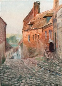 gateparti fra montreuil-sur-mer, frankrike by frits thaulow