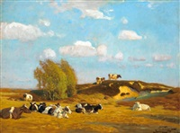 ein stiller sommerabend by oskar frenzel