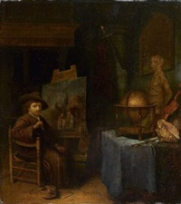 le peintre dans son atelier by jacob van spreeuwen