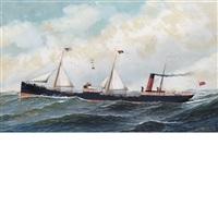 the steamship lackawanna by antonio jacobsen