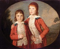 portrait of two boys by david allan