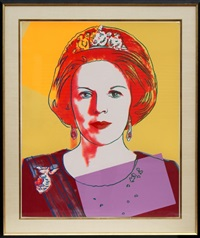 queen beatrix of the netherlands (fs.ii.341) by andy warhol