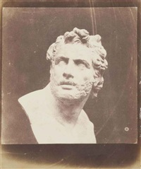bust of patroclus by william henry fox talbot