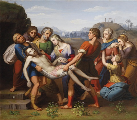 grablegung christi by josef arnold the elder