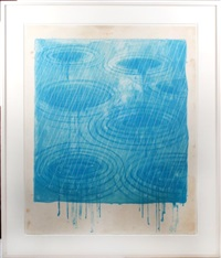 rain (from the weather series, 1973) by david hockney