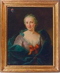 portrait de femme by louis tocqué