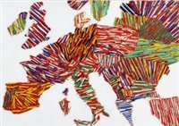 l'europa di matite spezzettate by paola pezzi