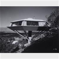 malin (chemosphere house) residence, designed by john lautner, los angeles, california by julius shulman