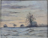 la neige by maximilien luce