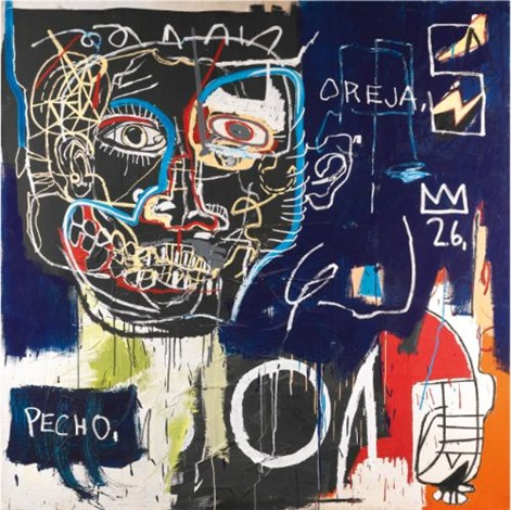 untitled pechooreja by jean michel basquiat