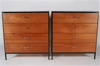 dressers (pair) by george nelson
