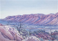 tent valley, james ranges, central australia by albert namatjira