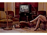 t.v. murder, cannes (unique version) by helmut newton