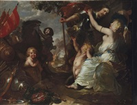 an allegory of peace; venus disarming mars after his return from war by sir anthony van dyck