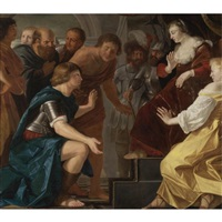 the departure of aeneas from dido, queen of carthage by christian van couwenbergh