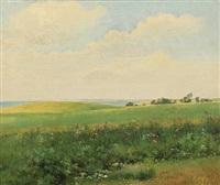summer landscape with rolling fields by carl frederik peder aagaard