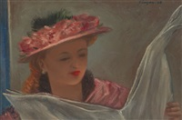 woman reading by clyde singer