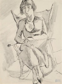 femme assise by jules pascin