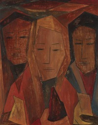 untitled (three women) by merton d. simpson
