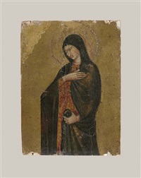 the virgin annunciate (right wing of a portable tabernacle) by giovanni di paolo