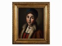 portrait of a russian girl by pietro antonio rotari