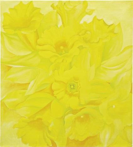 yellow jonquils iv by georgia okeeffe