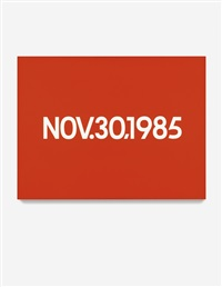 nov. 30, 1985 by on kawara