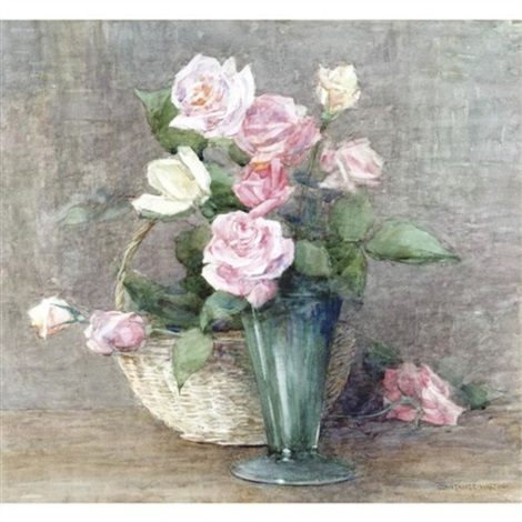 still life of roses by constance walton