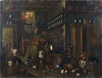 intérieur d'une pharmacie by giovanni domenico valentino