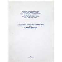 textes de charles baudelaire by hanne darboven