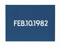 feb.10,1982 by on kawara