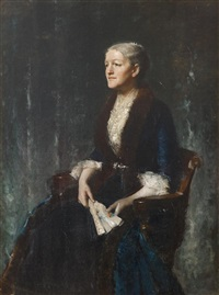 portrait of mrs. g by william merritt chase