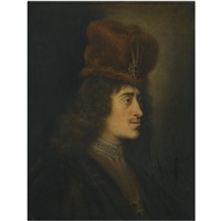 a tronie of a man in a red hat by salomon koninck