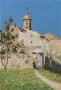 a sunlit village by h. de giuja